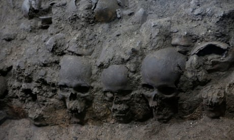 Tower of human skulls found in Mexico City dig casts light on Aztec sacrifices