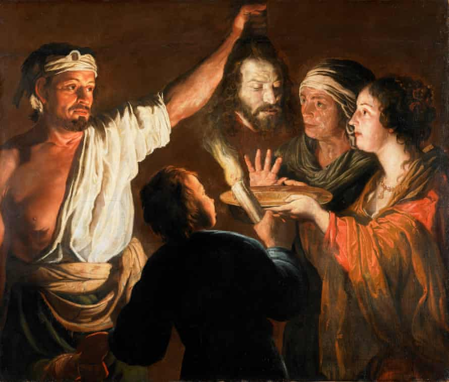 The Executioner with the Head of John the Baptist, circa 1640 to 1646, by William Dobson.