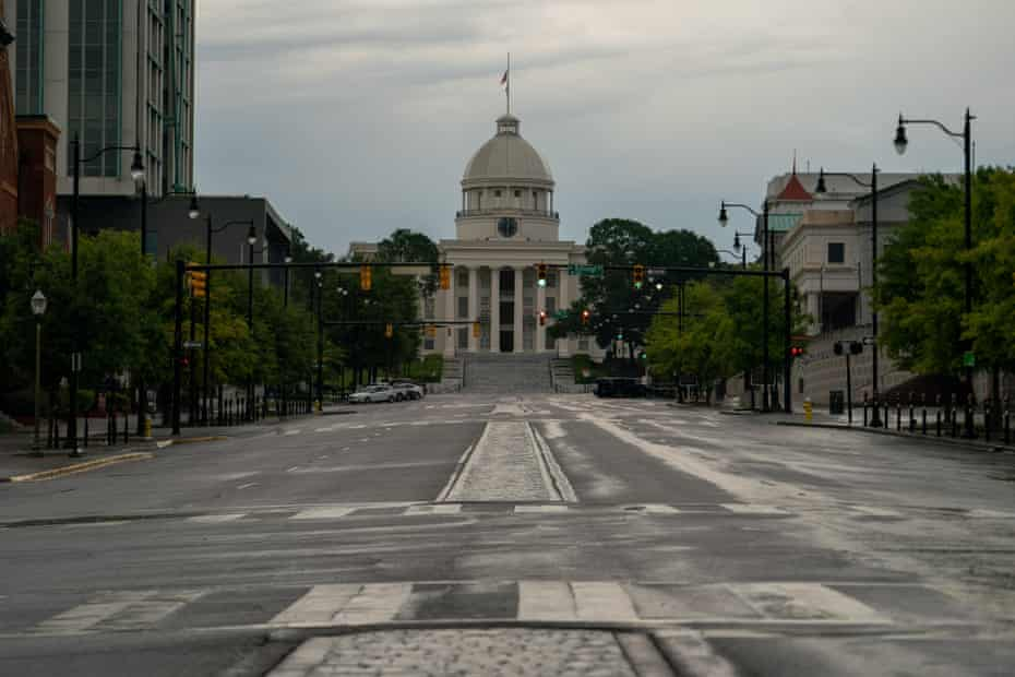 The Alabama State Capitol in downtown Montgomery Ala., on Wednesday, July 15, 2020.
