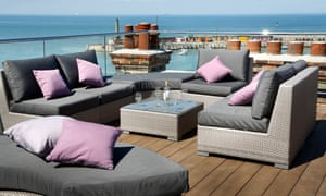 Rooftop lounge of the Sands Hotel, Margate
