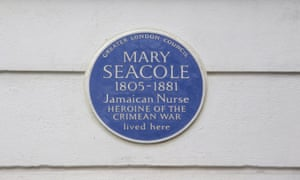 Mary Seacole's blue plaque
