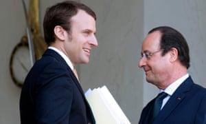 Emmanuel Macron and Françoise Hollande
