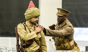 A rehearsal of Trench Brothers, a theatre show about colonial troops in the first world war.