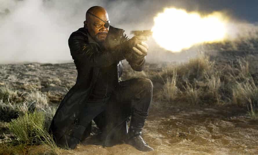 Samuel L Jackson in The Avengers.