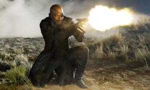 Samuel L Jackson as Nick Fury in Marvel's 2012 film The Avengers