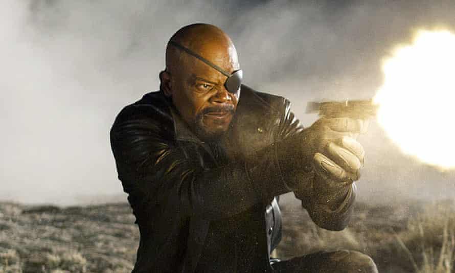 Samuel L Jackson as Nick Fury.