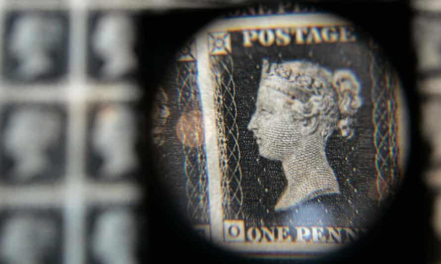 A British penny black stamp