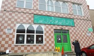 Birmingham mosque attacked.