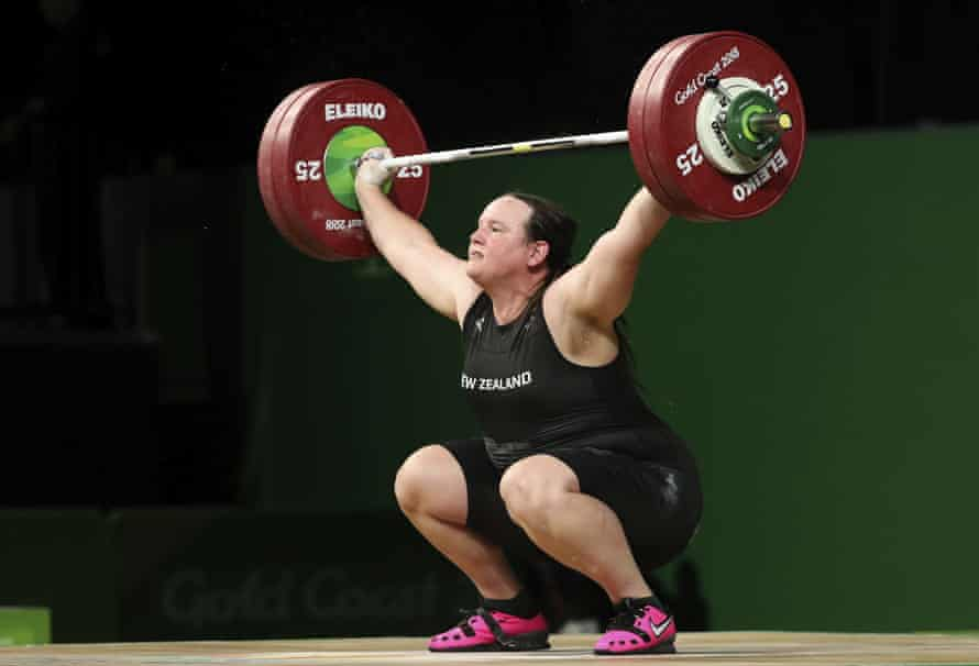 ew Zealand's Laurel Hubbard lifts in the snatch of the women's +90kg weightlifting final at the 2018 Commonwealth Games on the Gold Coast, Australia