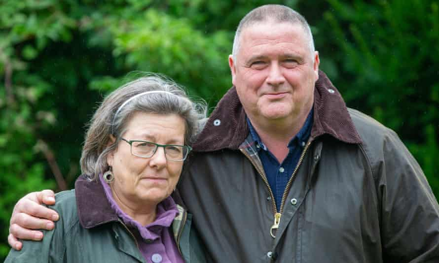 Clare and Dave Edwards from Durham, who claim they saw Dominic Cummings in Houghhall Woods on the southern outskirts of the city on 19 April.