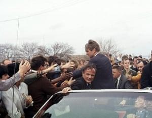 Campaigning in Kansas, 1968
