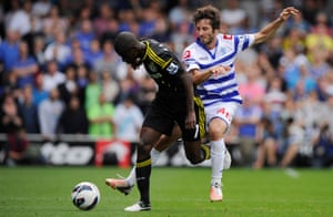 Esteban Granero playing for QPR against Chelsea 2012.
