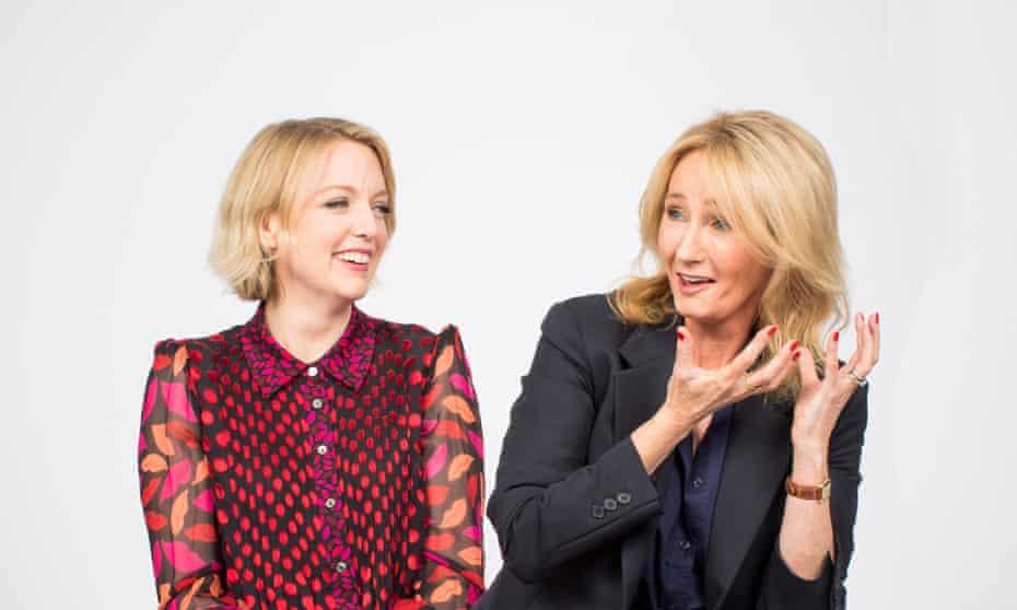 Lauren Laverne (left) and JK Rowling