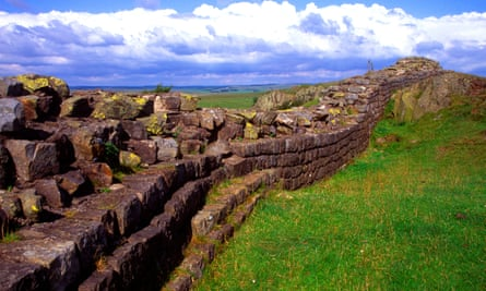 Hadrian's Wall at Walltown Crag in Northumberland.