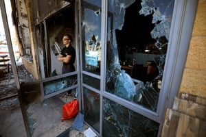 The Uri Buri restaurant in Acre, a mixed Arab-Jewish town in north-west Israel, after it was attacked and heavily damaged