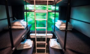 Thello Train sleeping area on the Paris to Venice route