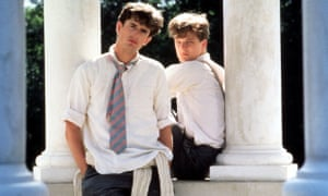 Everett (left) with Colin Firth in Another Land (1984).