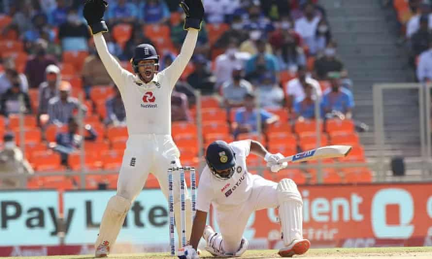 A total of 17 wickets fell on the second and final day of England's defeat to India