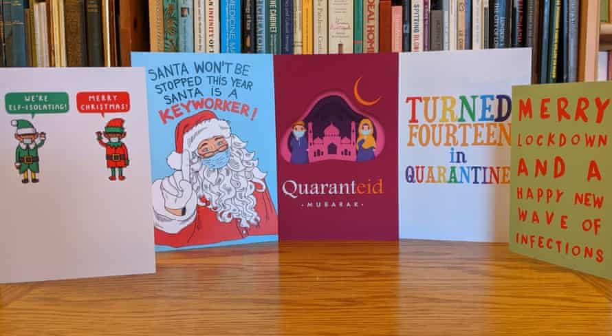 Covid-themed greetings cards