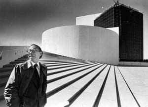 IM Pei in 1979 at his John F Kennedy Presidential Library in Boston.