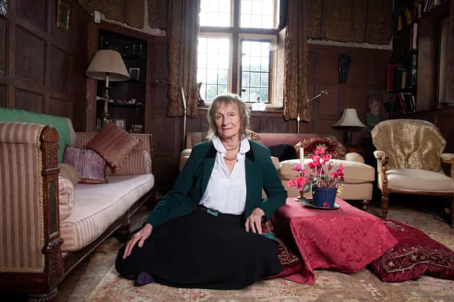 Amanda Feilding at 'Brainblood Hall', her Tudor home and nerve centre of her thinktank, the Beckley Foundation.