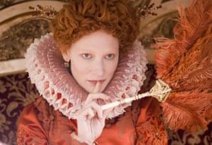 Cate Blanchett in her breakthrough role as Queen Elizabeth I.