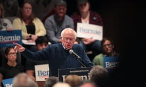 Bernie Sanders speaks to guests during a campaign event on 24 October 2019 in Marshalltown, Iowa.