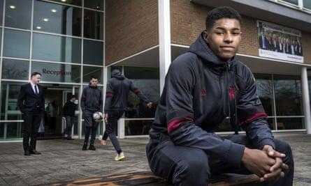 Manchester United's teenage striking sensation Marcus Rashford