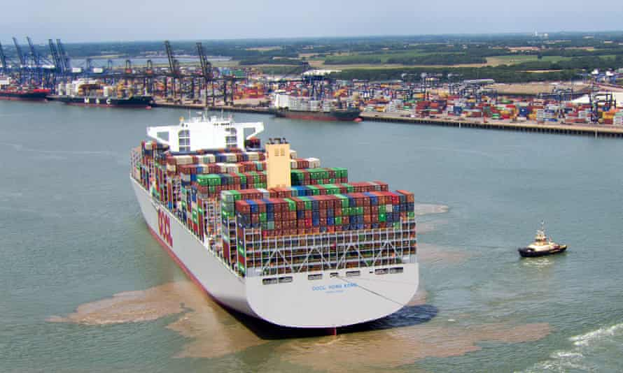 Container ship at Felixtowe