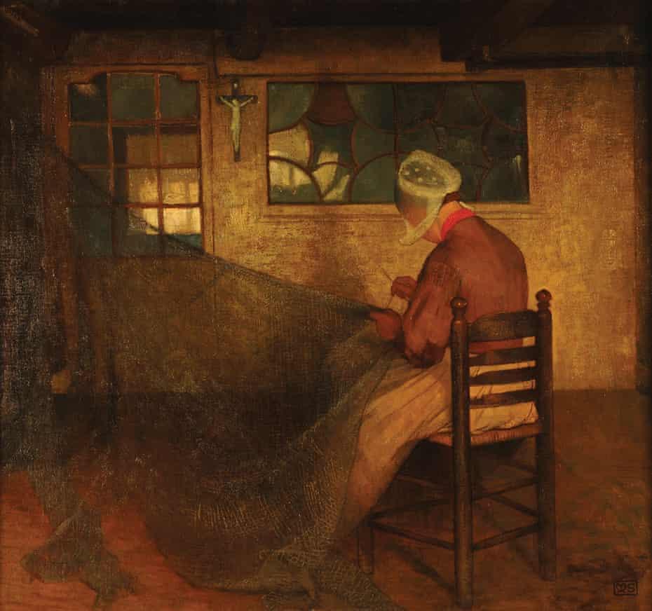 The Net Mender (64 x 70cm).