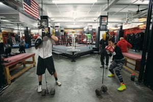 Inside the gym at Water Street, Brooklyn.