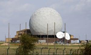A radar dome at RAF Croughton.