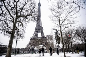 At the Eiffel Tower, Paris