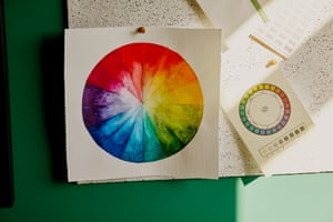 Interior designer's colour wheel.