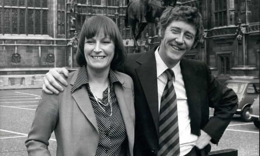 Austin Mitchell with his wife, the journalist and author Linda McDougall, in 1977.