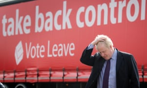 Boris Johnson during a Vote Leave campaign event. New analysis suggests support for leaving the EU is likely to be overstated.