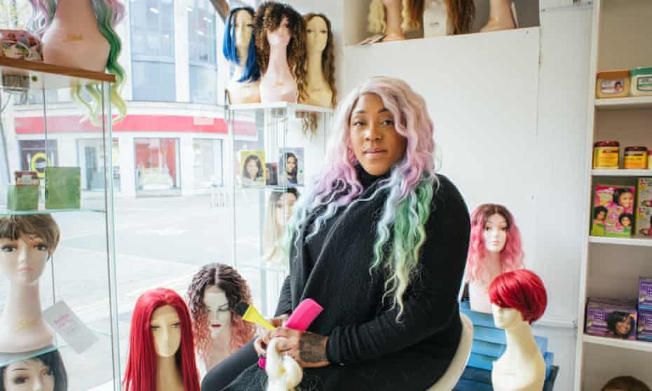 Ayofemi Holloway: 'This wig is like colour therapy.'