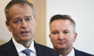 Bill Shorten in Perth on the campaign trail, where he hit back at Coalition claims Labor wants to increase taxes.