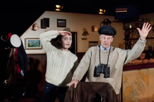 Iain Macrae and Roseanne Lynch in Whisky Galore, presented by the National Theatre of Scotland, Robhanis and A Play, a Pie and a Pint at Òran Mór.
