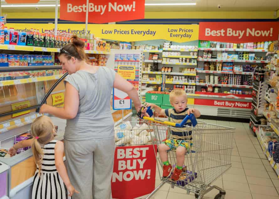 Kirsti shopping with Krystal and Cody, Accrington. July 2018.