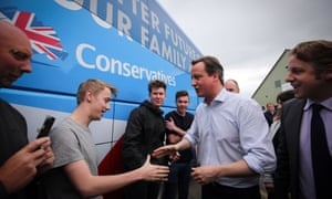 David Cameron during the general election campaign