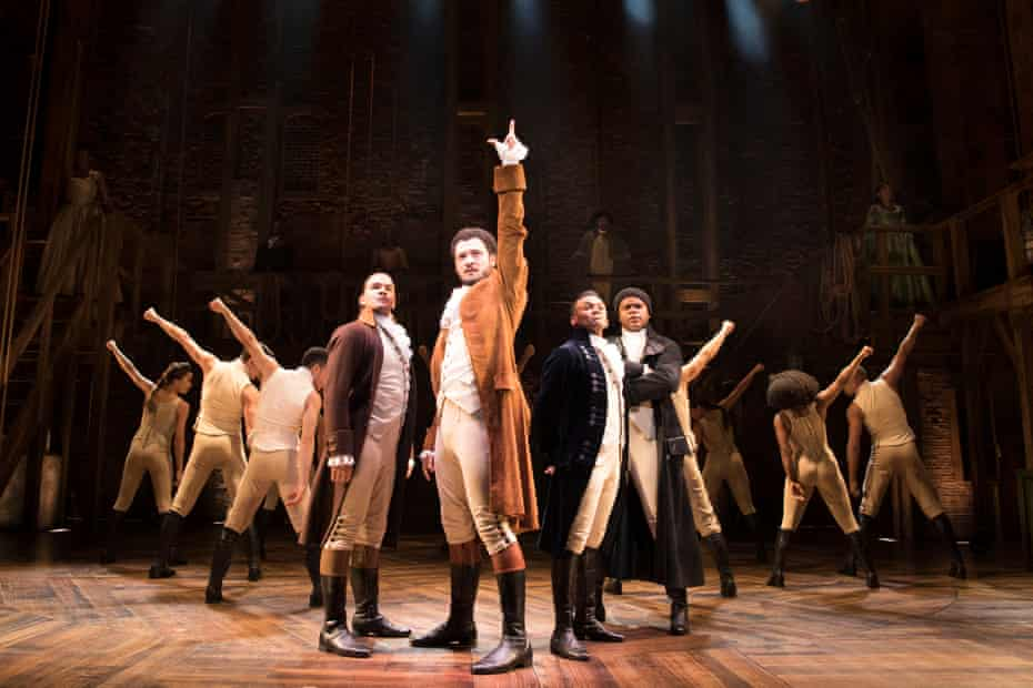 'Worth the wait': an impressive Jamael Westman (centre) as Alexander Hamilton with (from left) Cleve September (Laurens), Jason Pennycooke (Lafayette) and Tarinn Callender (Mulligan).