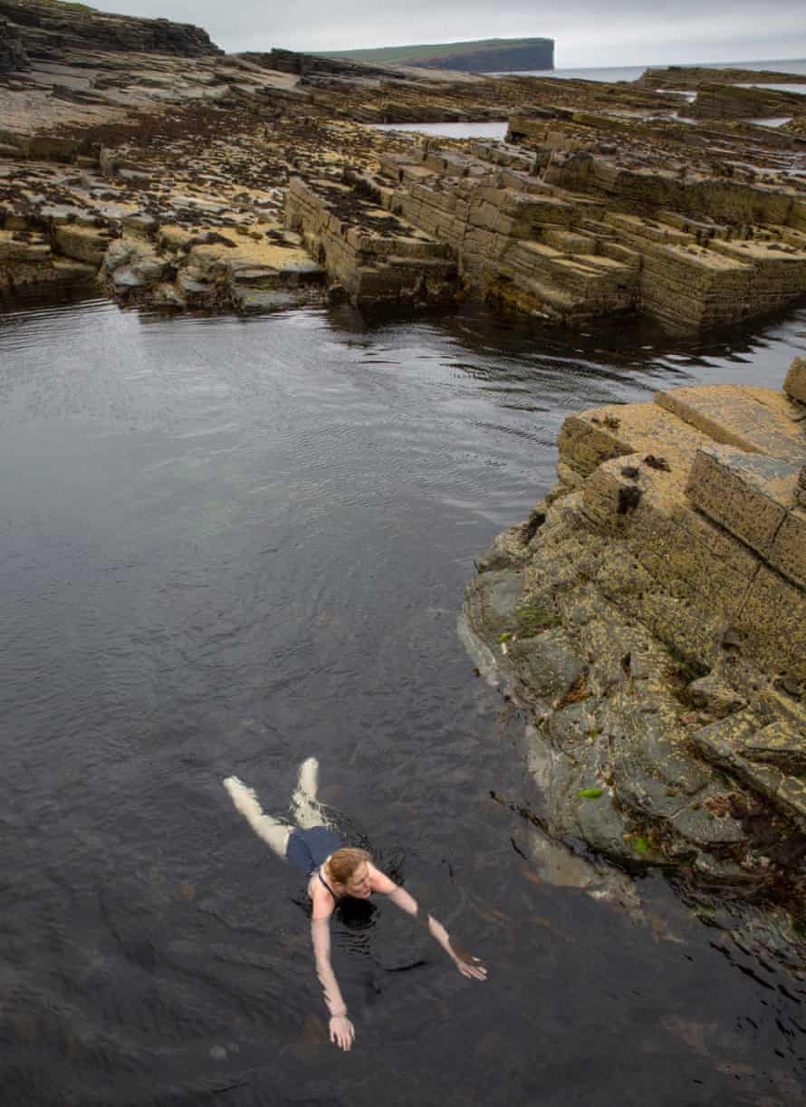 Amy Liptrot on the west coast of Orkney.