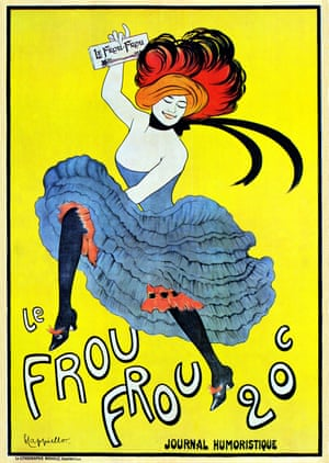 Modern advertising techniques developed in the late 1890s, with art used to sell products. Typical of the genre is this poster designed for the French magazine Le Frou Frou by Leonetto Cappiello in 1899.