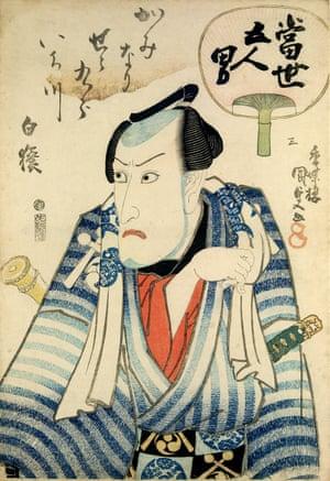 The actor Ichikawa Danjuro VII as Kaminari Shokuro, circa 1833.
