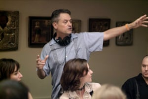 Jonathan Demme directs on the set of Rachel Getting Married 01 September 2008.