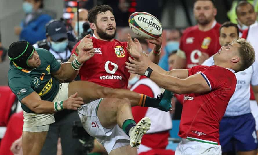 Robbie Henshaw's knock-on to Duhan van der Merwe
