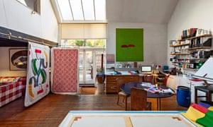 Textile designer Pauline Caulfield's studio
