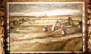 Women Mending Nets in the Dunes, is the first painting by Vincent Van Gogh for sale in 20 years.