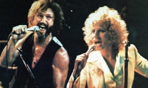 With Kris Kristofferson in A Star Is Born.